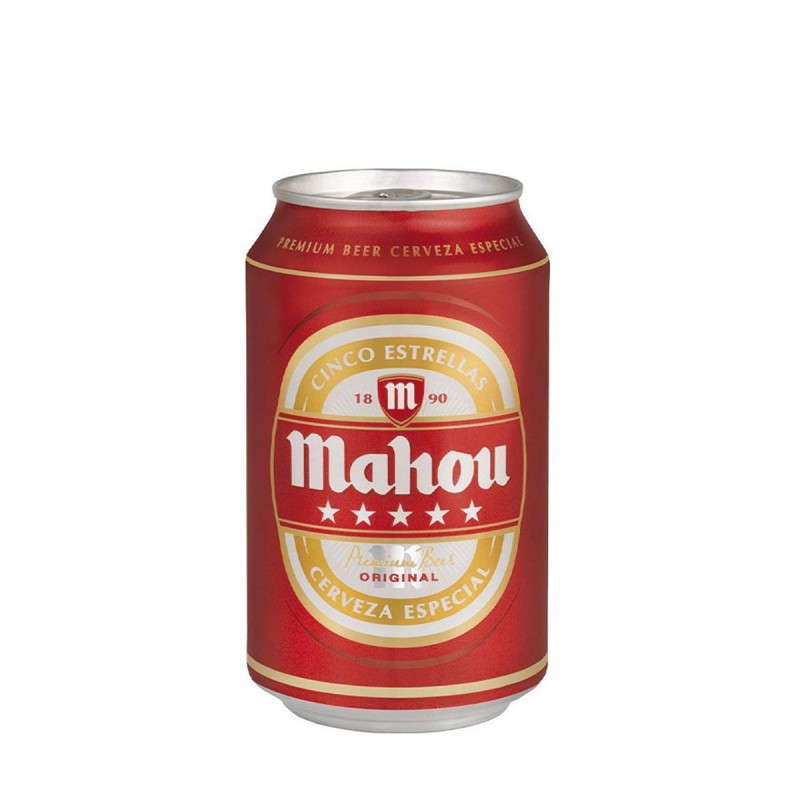 Cerveza Mahou 5 Estrellas Lata 33cl