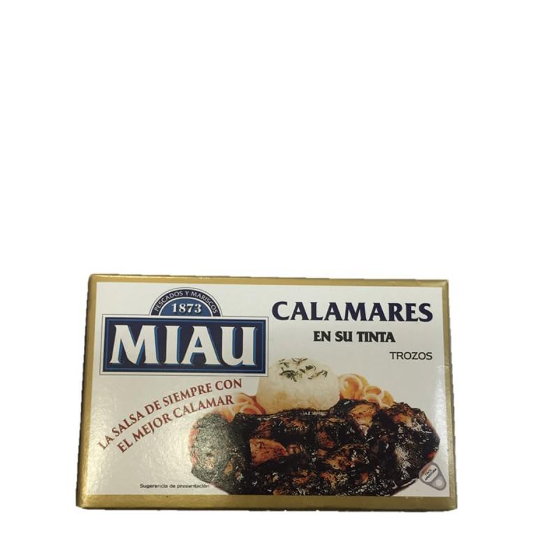 """CALAMARES EN SU TINTA OL-120 ABREFACIL """"MIAU"""""""